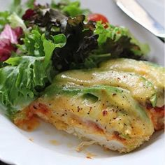 Avocado Chicken Parm #recipe