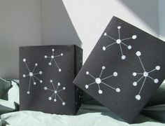 Hand painted lamp shades minimal unique one by AdaptationsStudio, $100.00