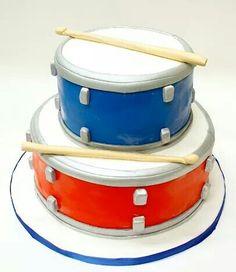 drum cakesimpl, cake idea, music cakes, cake music