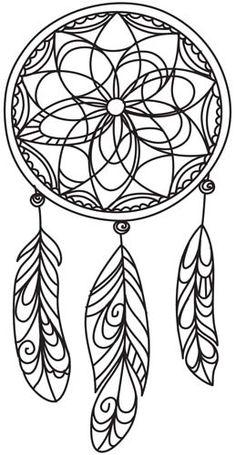 "Delicate Dreamcatcher design (UTH4898) from UrbanThreads.com 4.72""w x 9.41""h"