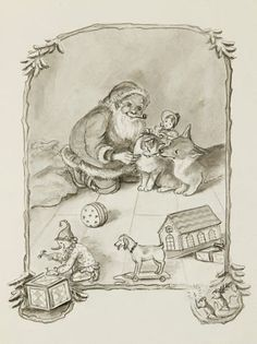 Tasha Tudor illustration of Night before Christmas! A family favorite!