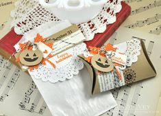 Happy Halloween Treat Bag & Pillow Box by Dawn McVey for Papertrey Ink (September 2013)
