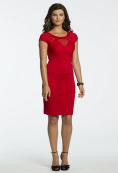 Short Scuba Red Dress from Camille La Vie and Group USA