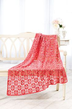 Eyelet Lace Throw - free crochet pattern
