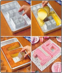 DIY Number Birthday Cake | DIY  Crafts Tutorials. I WANT ONE OF THESE SO BAD!!