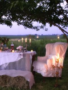 More summer dining at twilight  photos from NA-DA FARM shots for  Romantic Prairie Style  (all photos by Mark Lohman)