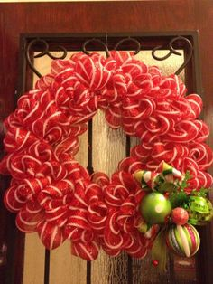 Wire rimmed Ribbon wreath for festive holiday pick
