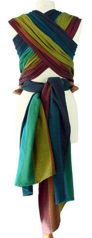 Caribou Baby - Girasol Woven Wrap Dark Rainbow Diamond $139