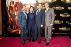 #WillFerrell, #SteveCarell, #PaulRudd and #DavidKoechner arrive at the 'Anchorman 2: The Legend Continues' Australian premiere on November 24, 2013 in #Sydney, Australia