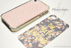 DIY iPhone cases under $2 #iphone #diyphonecase classyclutter.net