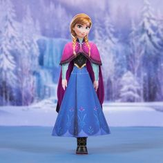 "Create your own version of the fearless princess Anna  from Arendelle. Disney movie ""Frozen"" Printable"