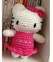 Ravelry: Crochet Kitty Hello Kitty in Pink Dress Doll Toy pattern by DDs Crochet