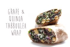 Perfect Picnic Recipes: Grape & Quinoa Tabbouleh Wrap | Free People Blog #freepeople