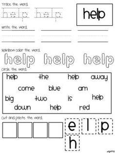sight word practice, preprim edit