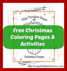 Free printable Christmas coloring pages and activities for children.