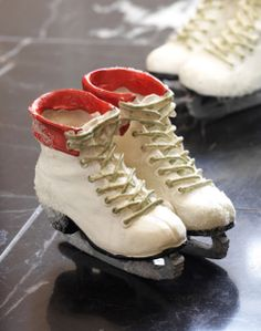 Skate Container #floral #greenery #iceskate #winter #Christmas