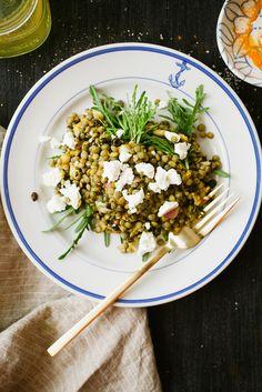 Easy green lentil salad