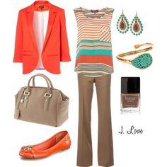 Orange//Nude//Blazer