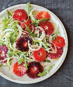 Fennel Salad with Blood Oranges and Arugula.