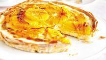 Orange & caramel custard tart