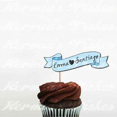 Printable Tags for Cupcakes Parties Weddings and by HermiasWishes, via Etsy.