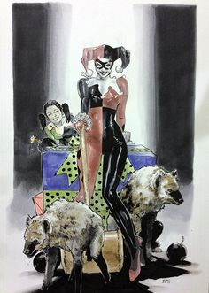 Harley quinn, by Clay Mann (Fan Expo 2013)