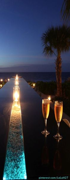 Infinity Bar at Grace Bay Club...Turks and Caicos