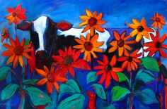Cow in the Sunflowers - Patty Baker