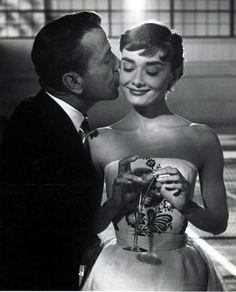 "Humphrey Bogart and Audrey Hepburn. Loved ""Sabrina"""
