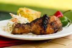 Grilled Chicken Drumsticks with Spicy Apple Glaze | for Rosh Hashanah