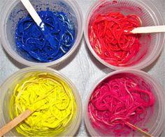 Spaghetti 'Worm' Painting