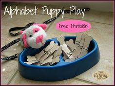 Alphabet Puppy Play with Free Printable