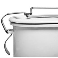 simple utilitarian beauty - Enamelware Lunch Container from Kaufmann Mercantile