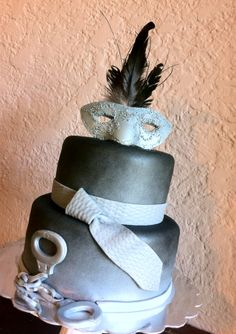 50 Shades of Grey Cake.