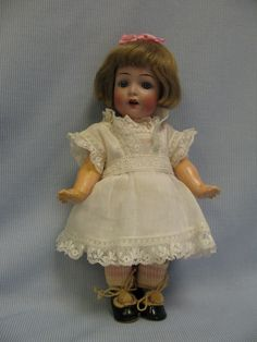 "8.5"" c1914 K * R Simon & Halbig Doll Slant-Hip TODDLER #126 CHARACTER Star-Hands"