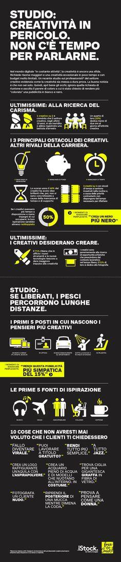 Infografica  creatività in ufficio