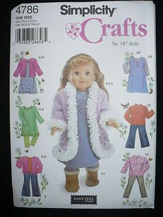 Simplicity 4786 Pattern -my go to pattern for American Girl dresses