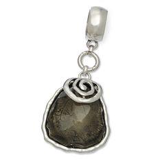 Nugget Bead with Swirl Scarf Jewelry Grey | Affordable Scarf Charm, Scarf Jewelry, Scarf Accent, Scarf Pendant | Purple Box Jewelry
