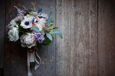 bouquet with peonies + anemones