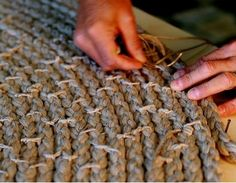 how to tie the braided rug together on the back