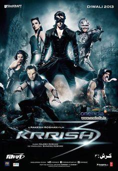Krrish 3 poster featuring Hrithik Roshan and mutant villains #Bollywood #Movies #Krrish3