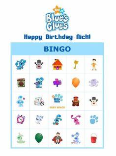Blues Clues bingo party game