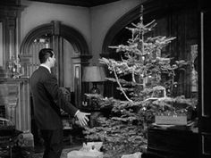 "My favorite part of this movie!! And why I fell in love with tinsel...""Dudley"" (Cary Grant) decorating the Christmas Tree in ""The Bishop's Wife"" (1947)."
