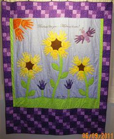 Handprint quilt made for my daughter's 3rd Grade teacher.