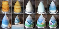 Adventure Time Cake Stages by *ginas-cakes on deviantART