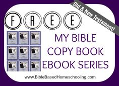 FREE My Bible Copy Book- Old & New Testament!