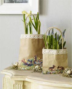 Paper Bag Flower Pots Decorations