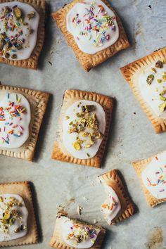 Pistachio Pop Tarts. Lovely.