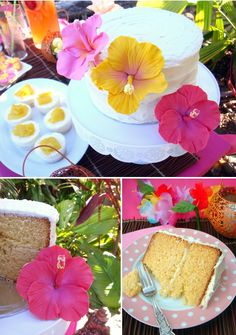 flower pictures, fondant, hibiscus, heart sugar, hawaiian flowers, birthdays, butter heart, hawaiian parti, birthday cakes