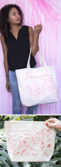 Bermuda tote and pou